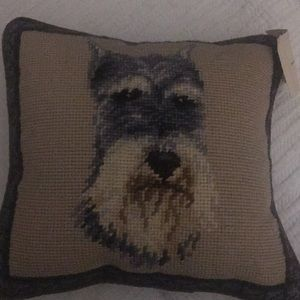 "New Afghan Hound Dog 100/% Wool Petite Needlepoint Pillow 14/"" Square"